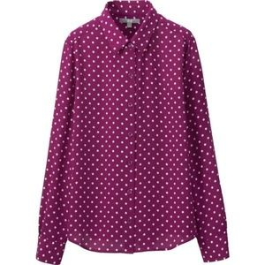 927336332637ff Uniqlo · Uniqlo button down polka dot ...